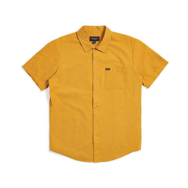 Brixton - Charter Oxford Short Sleeve - Maize - Division and Co.