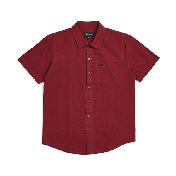 Brixton - Charter Oxford Short Sleeve - Maroon - Division and Co.