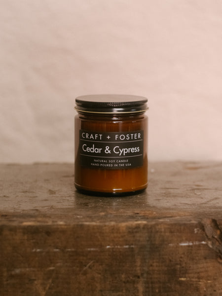 Cedar & Cypress - Natural Soy Wax 8oz Candle - Division and Co.