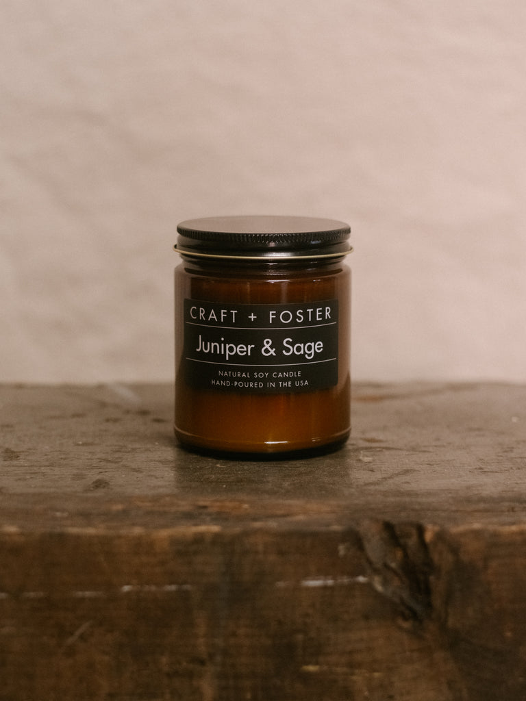 Juniper & Sage - Natural Soy Wax 8oz Candle - Thirdmark Supply House