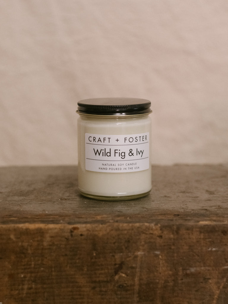 Wild Fig & Ivy - Natural Soy Wax 8oz Candle - Thirdmark Supply House