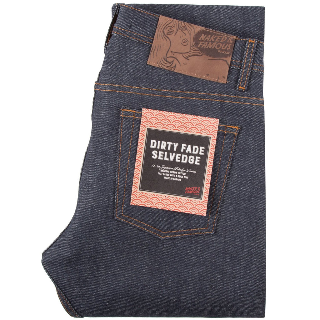 Naked & Famous - 14.5oz Raw Selvedge - Dirty Fade - Weird Guy - Division and Co.
