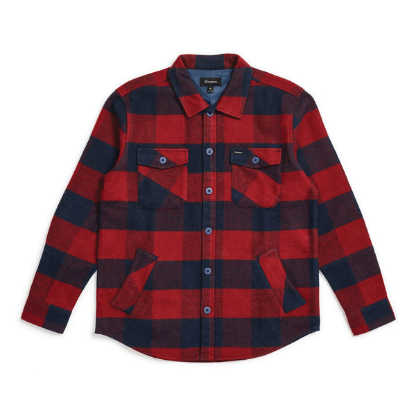 Brixton - Durham Flannel - Navy/Red - Division and Co.