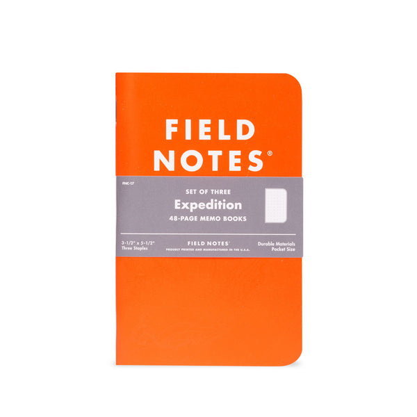 Field Notes Expedition Edition 3-Pack - Thirdmark Supply House