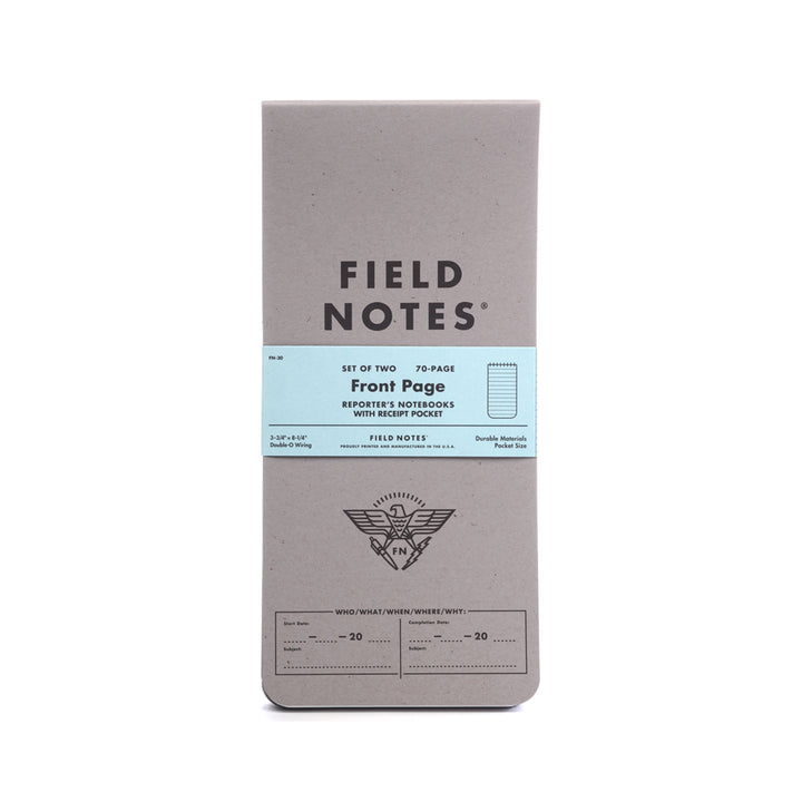 "Field Notes ""Front Page"" Reporters Notebook 2-Pack - Division and Co."