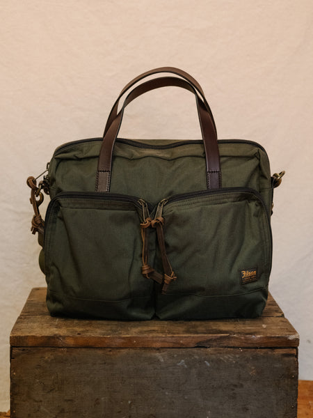 Dryden Briefcase in Otter Green - Thirdmark Supply House