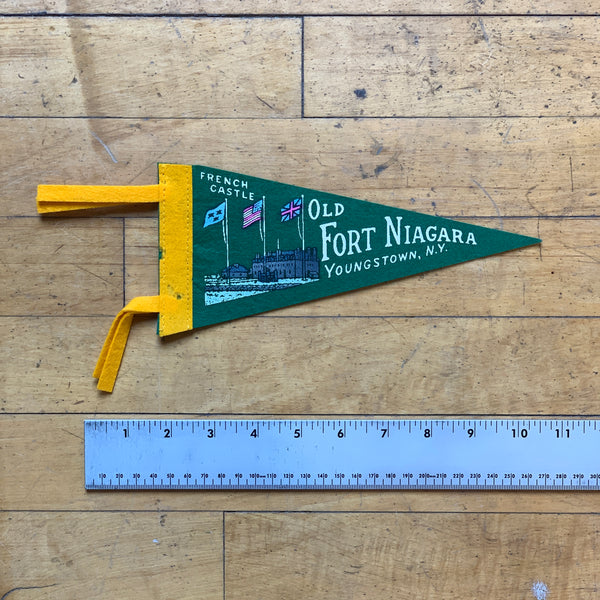 Green - Old Fort Niagara Vintage Pennant - Division and Co.