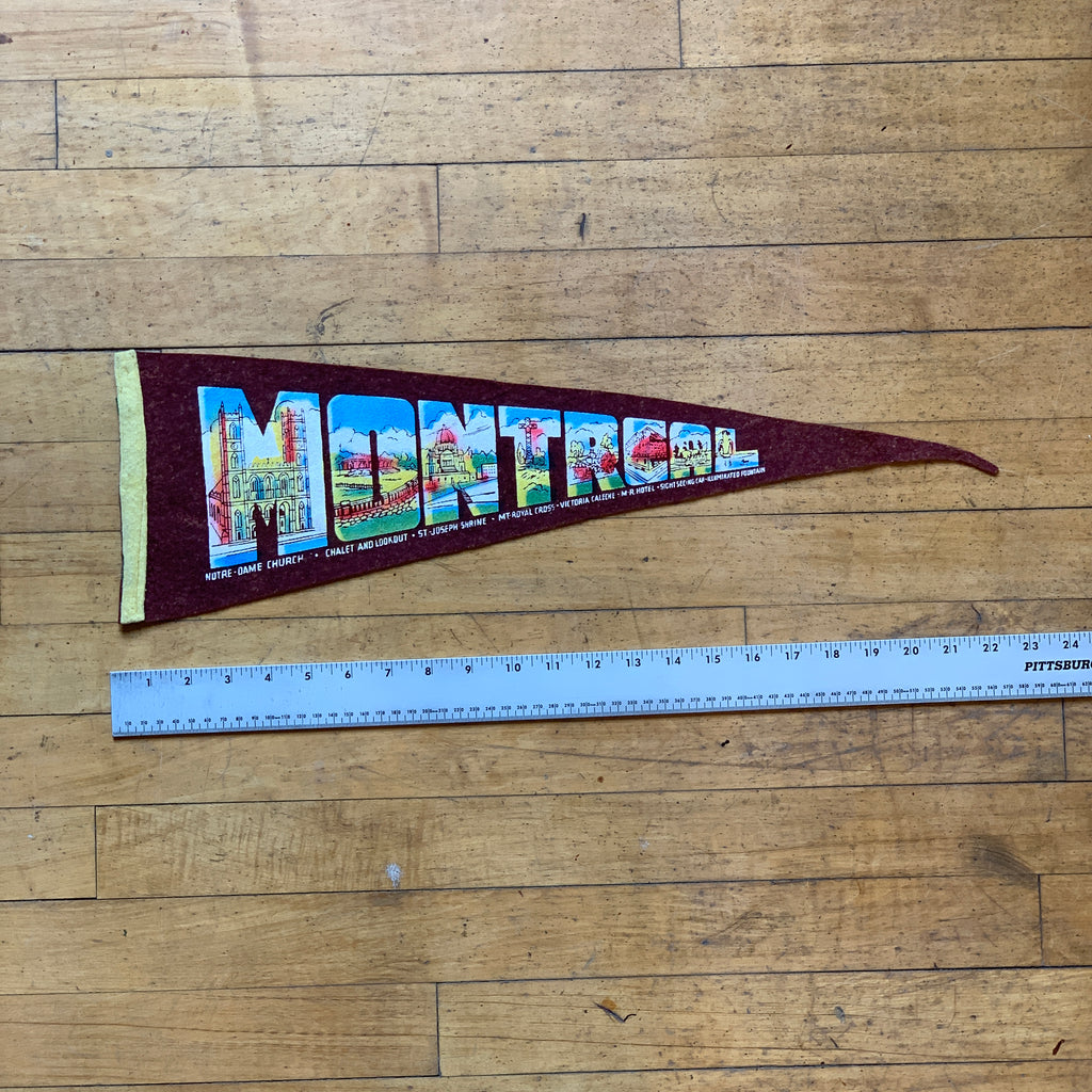 Black Montreal Vintage Pennant - Division and Co.
