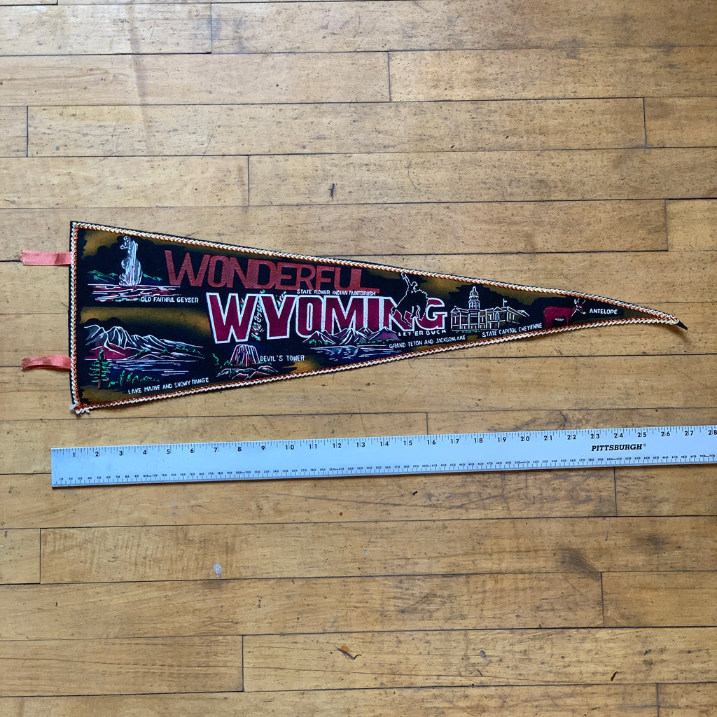 Wonderful Wyoming Vintage Pennant - Thirdmark Supply House