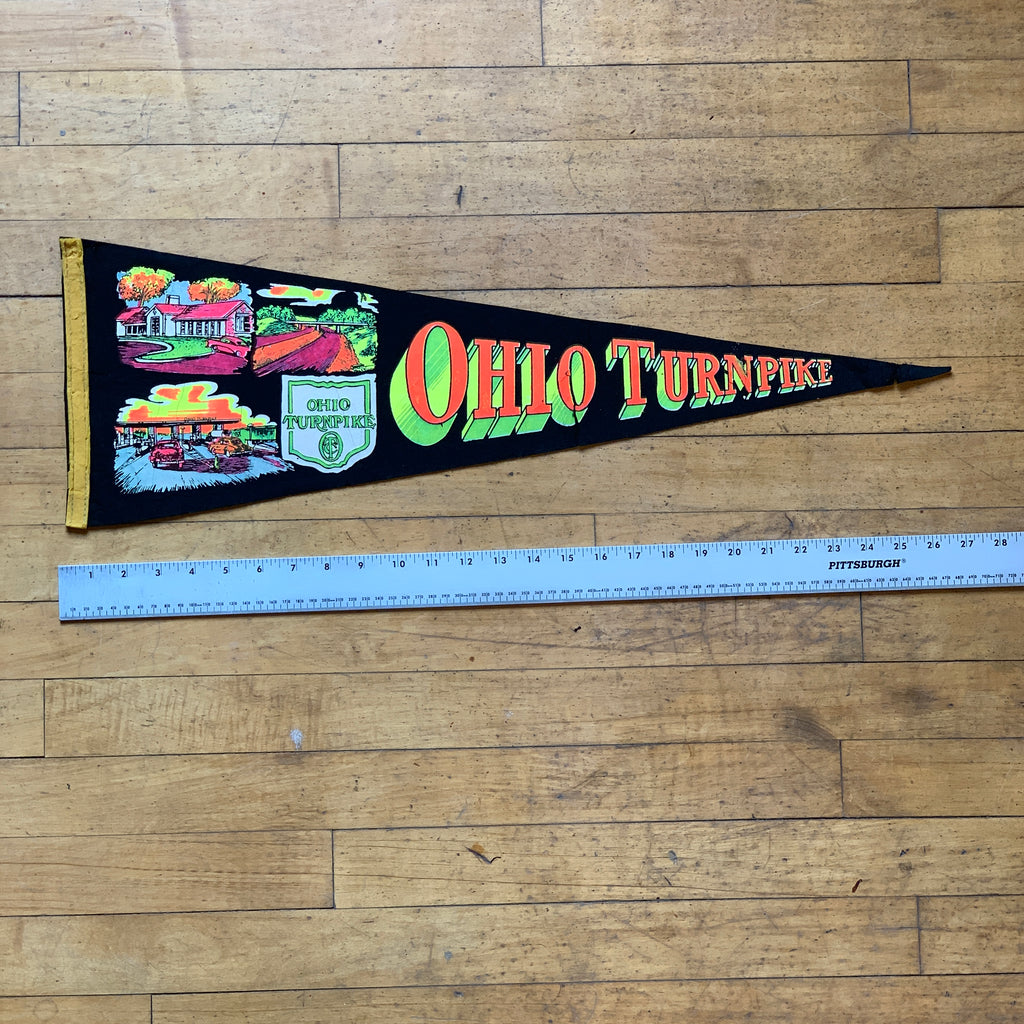 Ohio Turnpike Vintage Pennant - Thirdmark Supply House