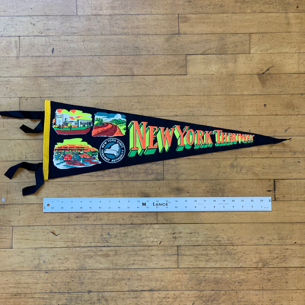 New York Thruway Vintage Pennant - Thirdmark Supply House