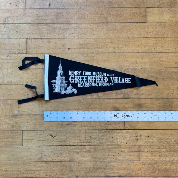 Henry Ford Museum Dearborn Michigan Vintage Pennant - Thirdmark Supply House