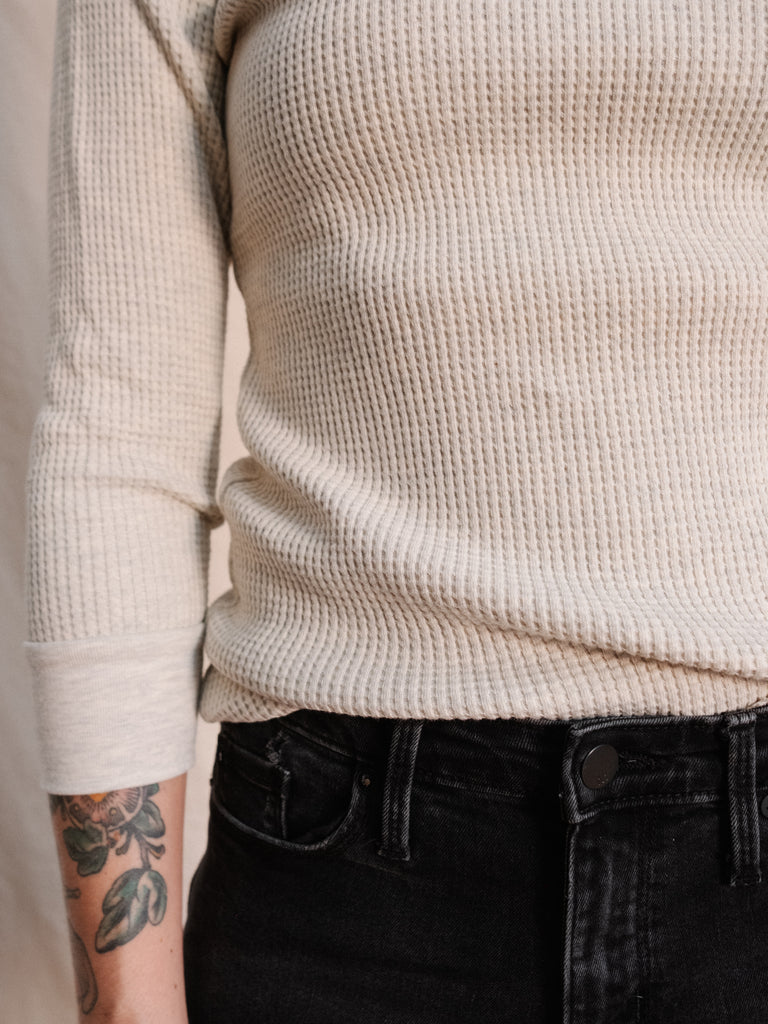 Women's Waffle Thermal Crew - Thirdmark Supply House