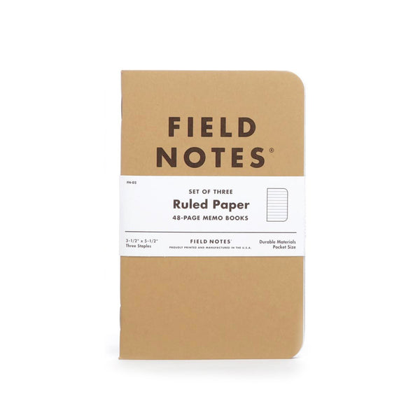 Field Notes Original Kraft Notebook 3-pack (Ruled) - Thirdmark Supply House