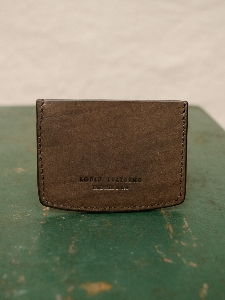 Minimalist Slim Card Holder - Pueblo Dark Brown - Thirdmark Supply House