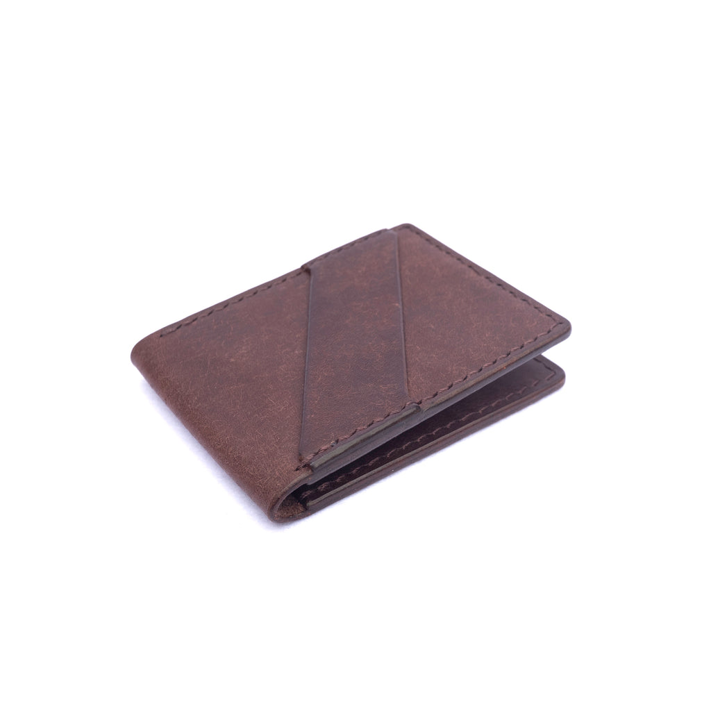 Minimalist Bifold Wallet - Pueblo Dark Brown - Division and Co.