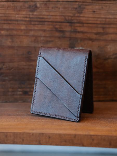 Minimalist Bifold Wallet - Pueblo Dark Brown - Thirdmark Supply House