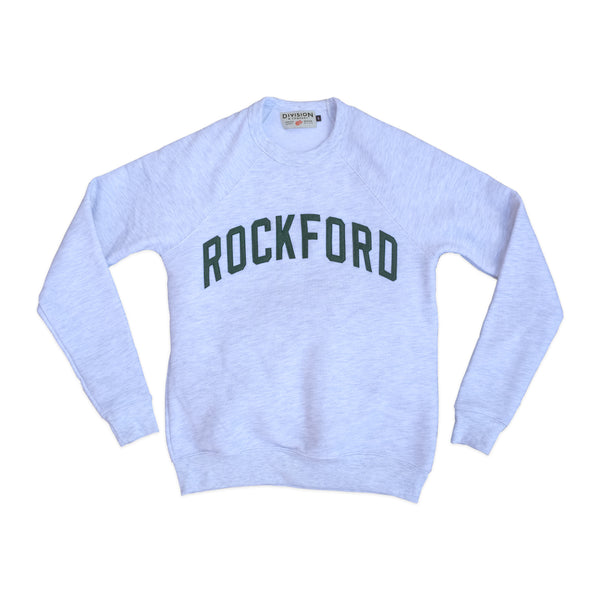 Rockford Crewneck Sweatshirt- Ash/Forest Green - Division and Co.