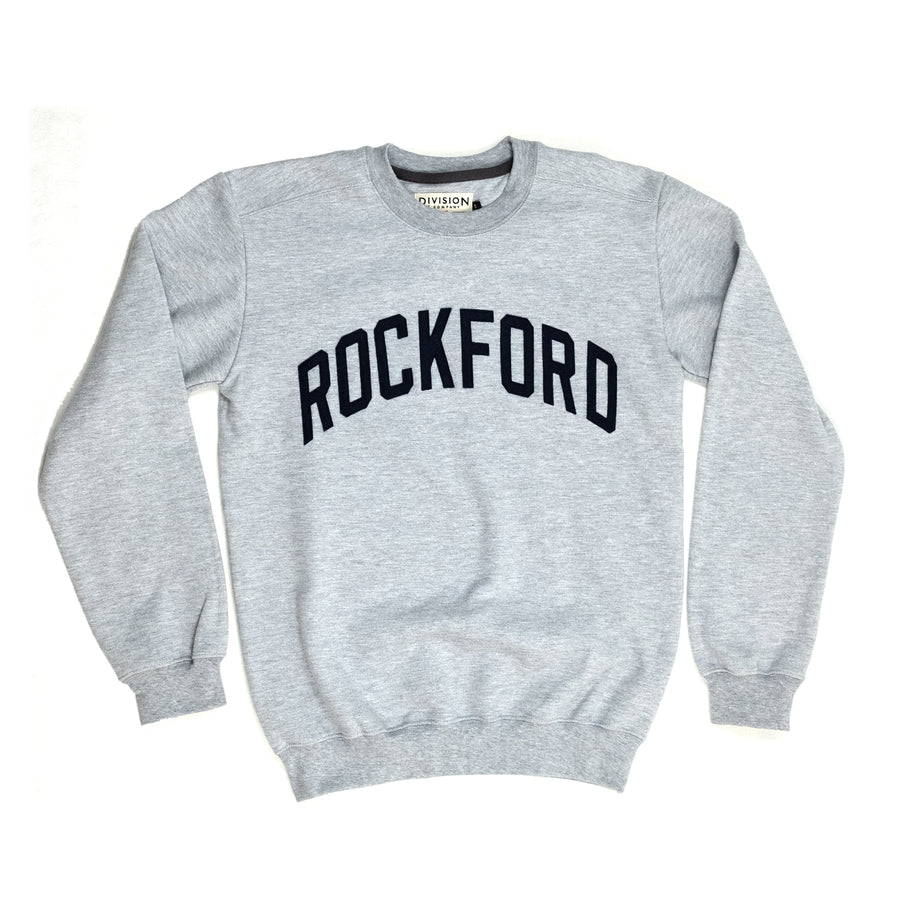 Rockford Crewneck Sweatshirt | Athletic Gray - Division and Co.