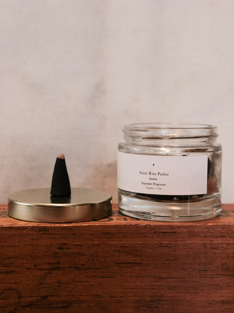 Saint Rita Parlor: Signature Fragrance Incense Cones - Thirdmark Supply House