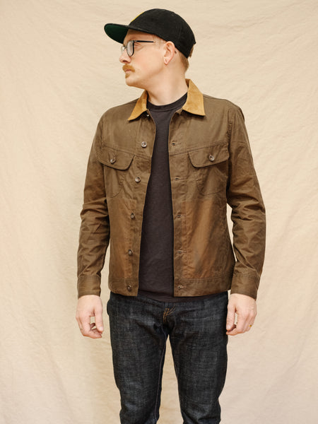 The Long Haul Jacket in Tobacco Waxed Canvas - Thirdmark Supply House
