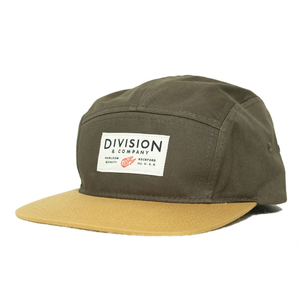 Division & Co. 5 Panel Camp Hat | Olive - Division and Co.