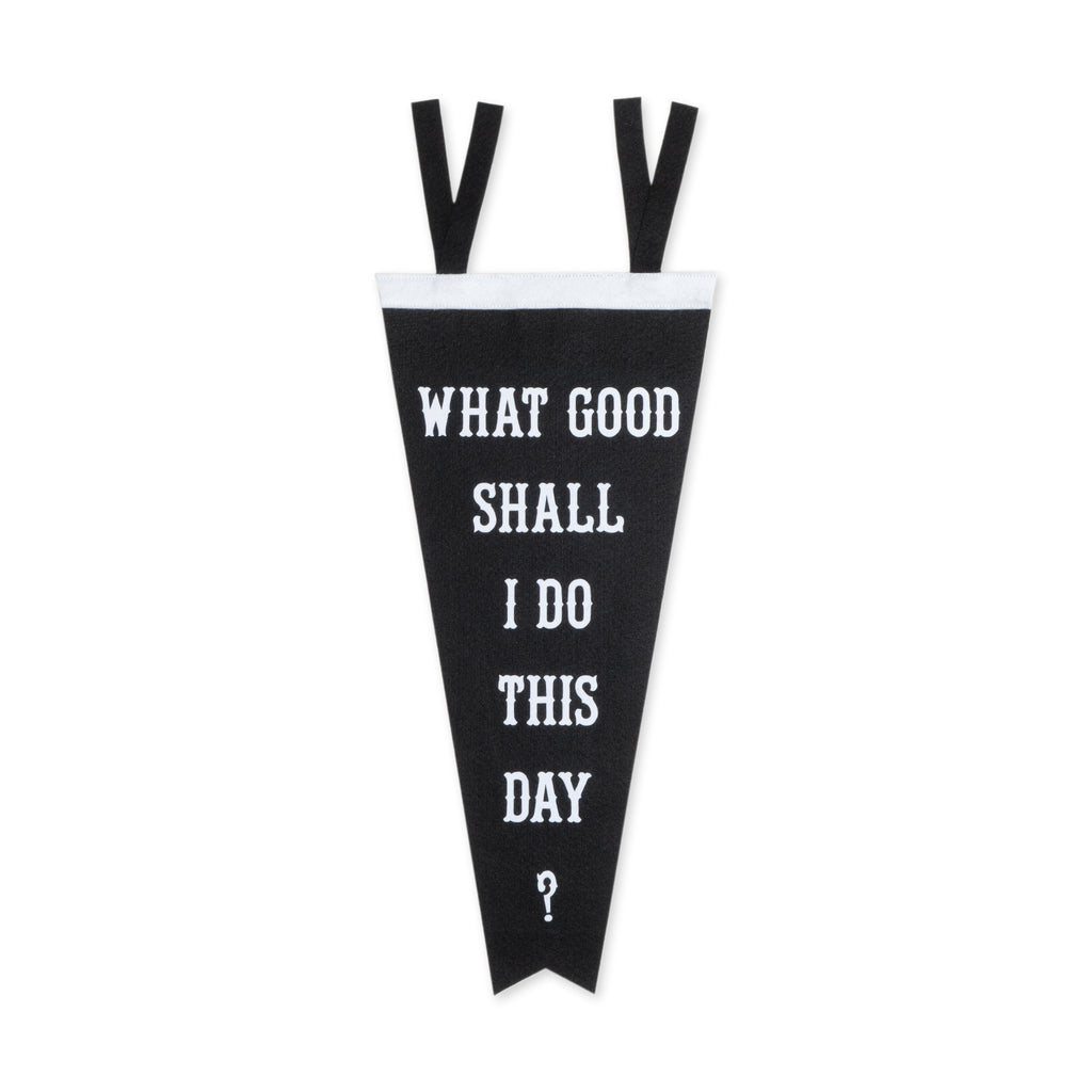 What Good Shall I Do This Day? Pennant - Division & Co.