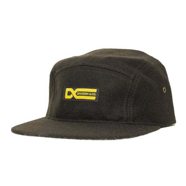 5 Panel Camp Hat | Brown Wool - Division and Co.