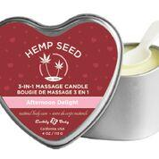 Candle 3 N 1 Heart Edible Afternoon Delight 4.7 Oz