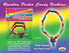 bachelorette party,party bachelorette,bachelorette parties,bachelorette party ideas,bachelorette decorations,bacheloretteplans.com, bachlorette games, bride to be games, bachelorette party games,Rainbow Cock Candy Necklace
