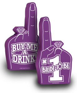 bachelorette party,party bachelorette,bachelorette parties,bachelorette party ideas,bachelorette decorations,bacheloretteplans.com, bachlorette games, bride to be games, bachelorette party games,(d) Bride To Be Foam Finger Litnv-047