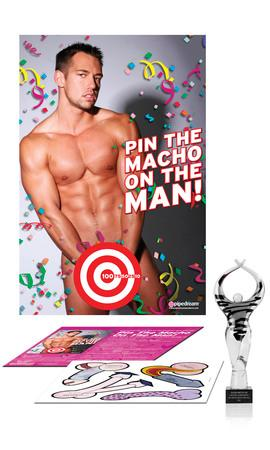 bachelorette party,party bachelorette,bachelorette parties,bachelorette party ideas,bachelorette decorations,bacheloretteplans.com,Bachelorette Pin The Macho On The Man[ea]