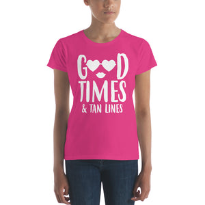 Bachelorette Good Times & Tan Lines Solid Shades Women's short sleeve t-shirt