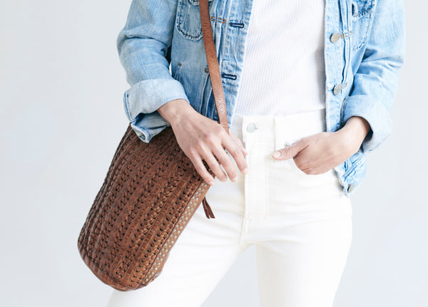 Affordable woven purses