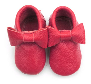 Big Bow Moccasins- Red