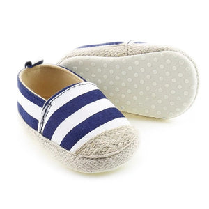 Summer Espadrille- Blue Stripe