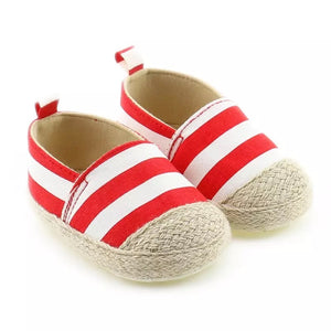 Summer Espadrille- Red Stripe