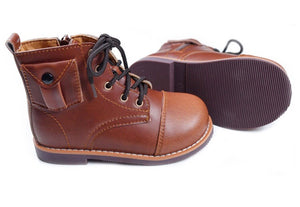 RTS- Artisan Unisex Boots- Penny Brown