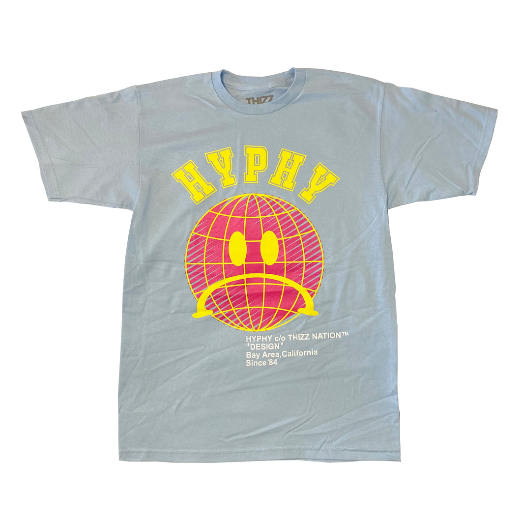 HYPHY WORLD -BABY BLUE TEE