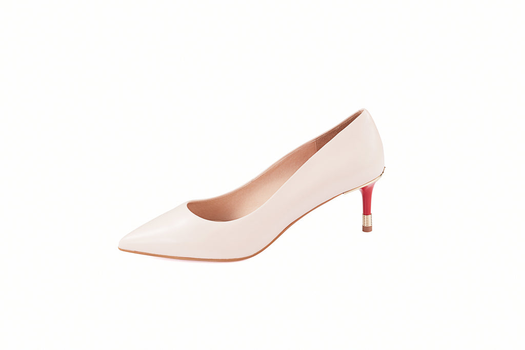 Leather Pumps - Beige AM54102-BEK