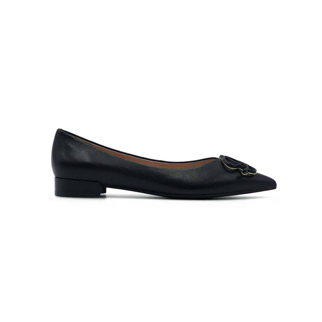 Pointed-toe Flat Shoes - Black 1T19202BKK