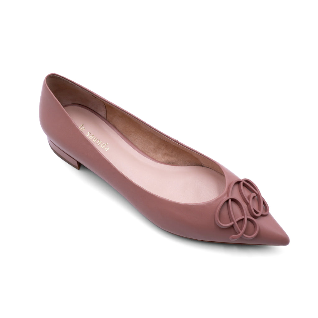 Pointed-toe Flat Shoes - Dark Pink 1T19202DNK