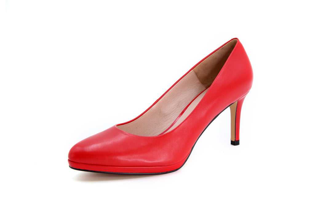 Leather Pumps - Red AT76701RDK
