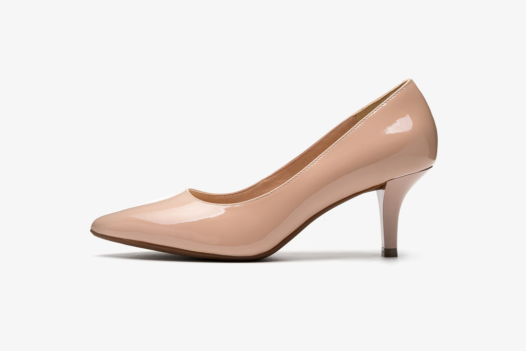 Classic Leather Pumps - Dark Pink