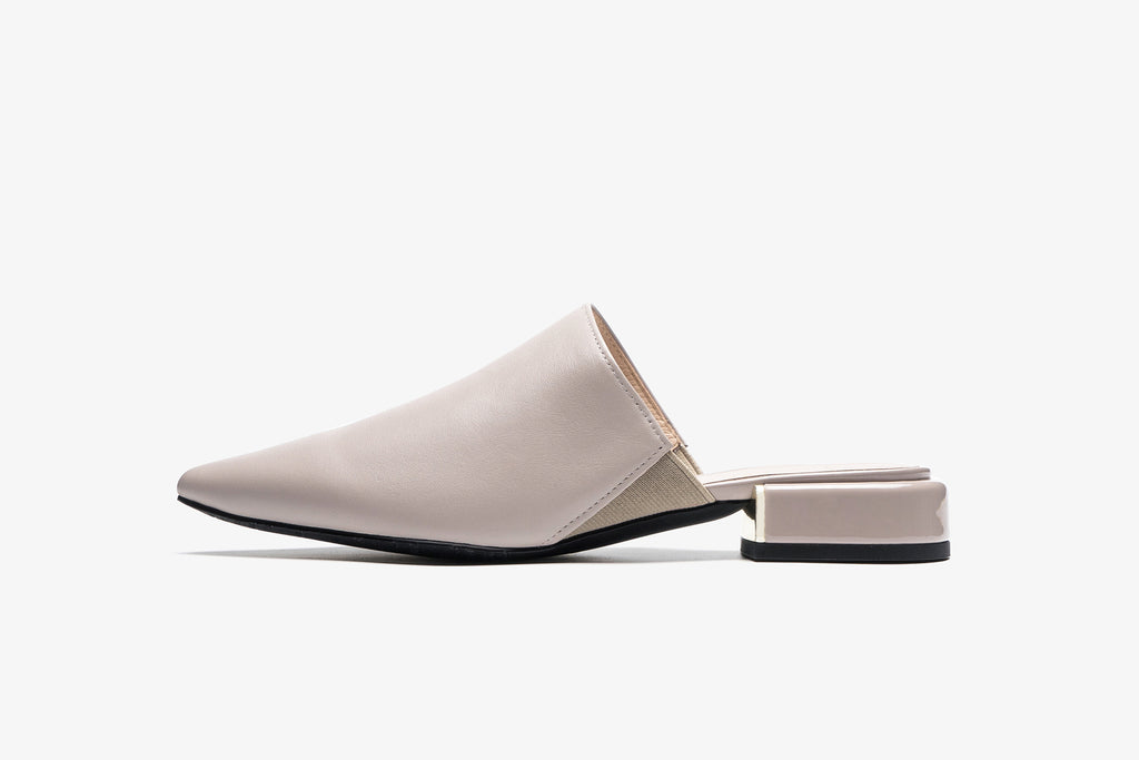 Leather Mules - Grey AM20701 - GYL
