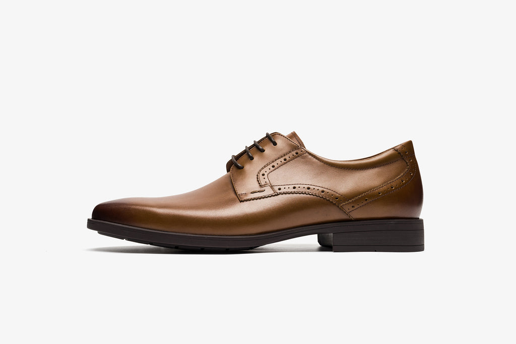 Men's Leather Lace-up Shoes - Brown