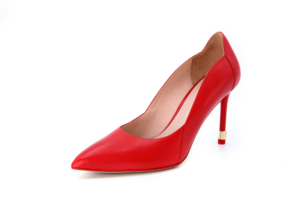Leather Pumps - Red AT94436