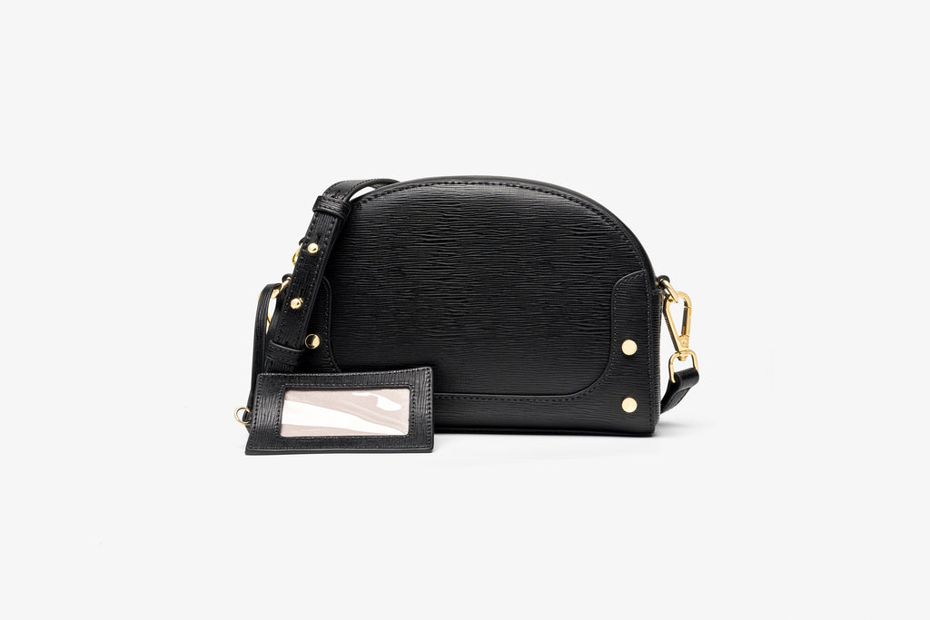 Printed Leather Crossbody Bag - Black ATH7635