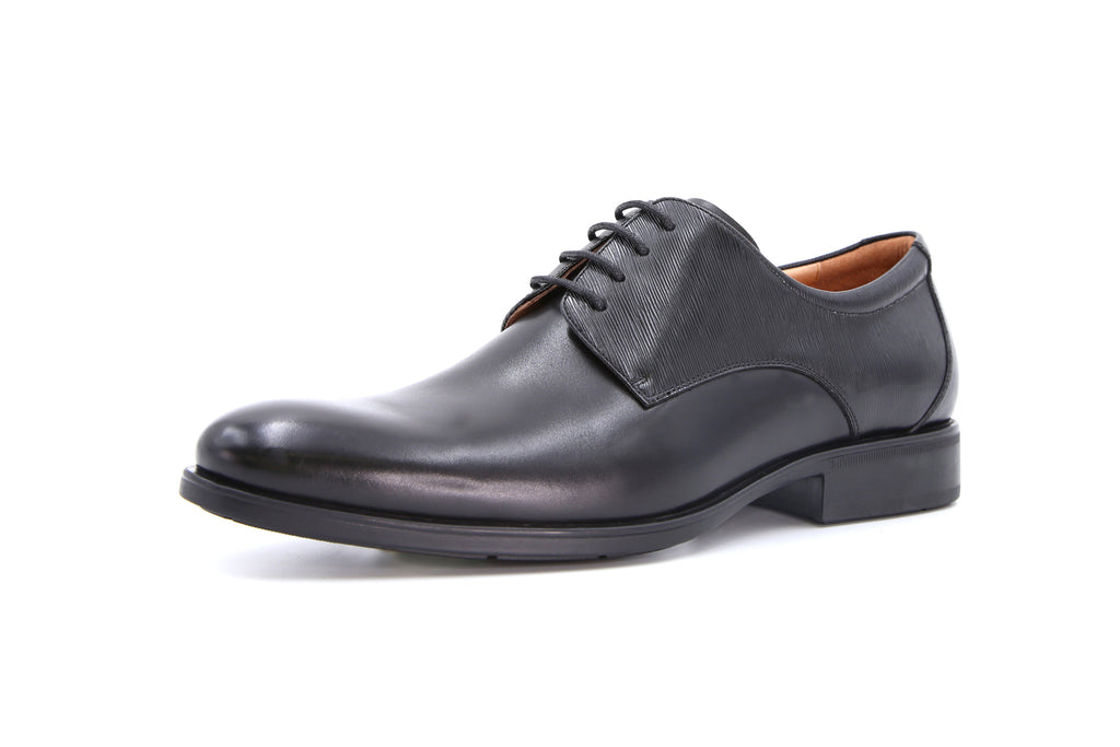 Men's Leather Lace-up Shoes - Black ATM31968