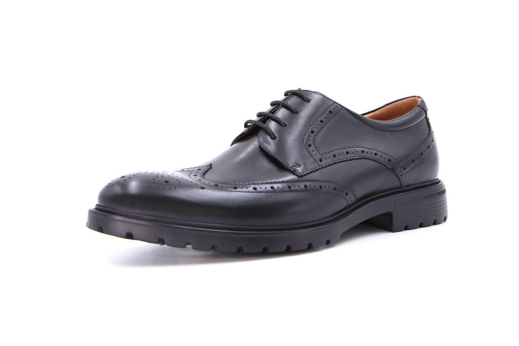 Men's Leather Derby Shoes - Black ATM56401